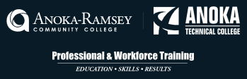 logos for anoka ramsey community college, anoka technical college, and the professional workforce training center